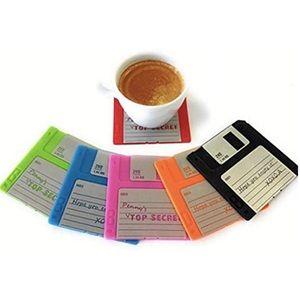 Set of 6 Retro Floppy Disk Coasters Trendy NWT!